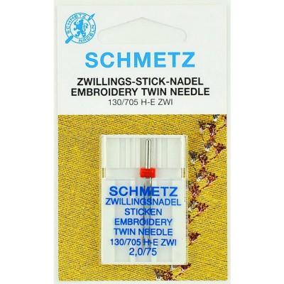 Иглы Schmetz двойная вышивальная