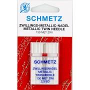 Иглы Schmetz двойная для металлизированных нитей